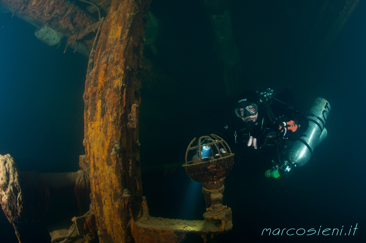dive in Paguro wreck